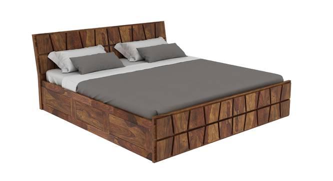 Southampton Platform Storage Bed (King Bed Size, Semi Gloss Finish) by Urban Ladder - Cross View Design 1 - 361726