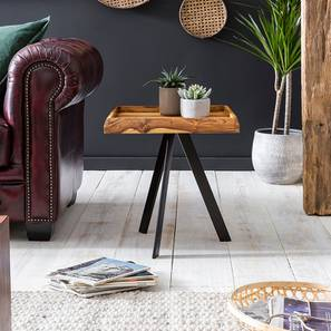 Emile Side Table (Semi Gloss Finish, Honey Oak) by Urban Ladder - Design 1 - 361801