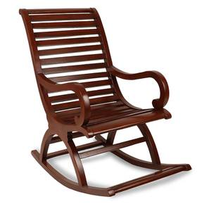 Michael Rocking Chair (Brown) by Urban Ladder - Front View Design 1 - 361927