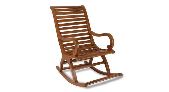Morgan Rocking Chair (Mahogany) by Urban Ladder - Front View Design 1 - 361926