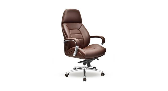 Boss Office Chair (Brown) by Urban Ladder - Cross View Design 1 - 361975