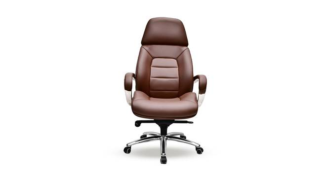 Boss Office Chair (Brown) by Urban Ladder - Front View Design 1 - 361976