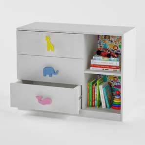 Petting Zoo Chest of Drawers (White, Matte Finish) by Urban Ladder - Pic - 362100
