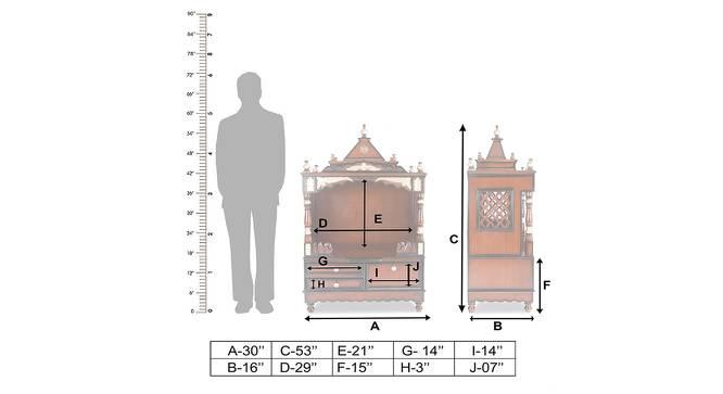 Pankhuri Prayer Unit (Brown, Gloss Finish) by Urban Ladder - Dimension - 362223