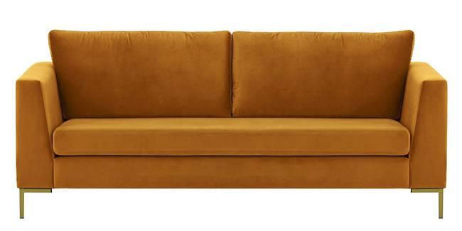 Chrislay Fabric Sofa (Mustard Velvet) (1-seater Custom Set - Sofas, None Standard Set - Sofas, Mustard, Fabric Sofa Material, Regular Sofa Size, Regular Sofa Type)