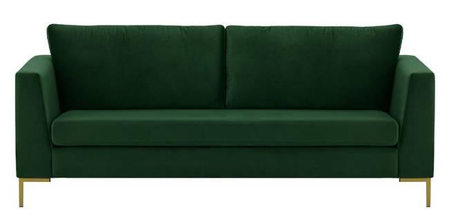 Chrislay Fabric Sofa (Dark Green Velvet) (1-seater Custom Set - Sofas, None Standard Set - Sofas, Fabric Sofa Material, Regular Sofa Size, Regular Sofa Type, Dark Green)