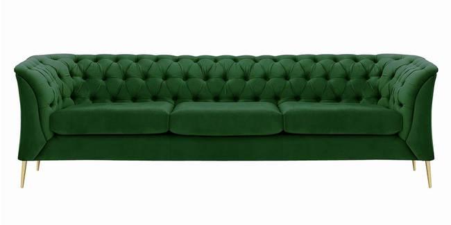 Corbyn Chesterfield Fabric Sofa - (Dark Green Velvet) (1-seater Custom Set - Sofas, None Standard Set - Sofas, Fabric Sofa Material, Regular Sofa Size, Regular Sofa Type, Dark Green)