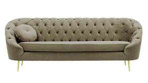 Dracona Tufted Fabric Sofa (Brown Velvet)