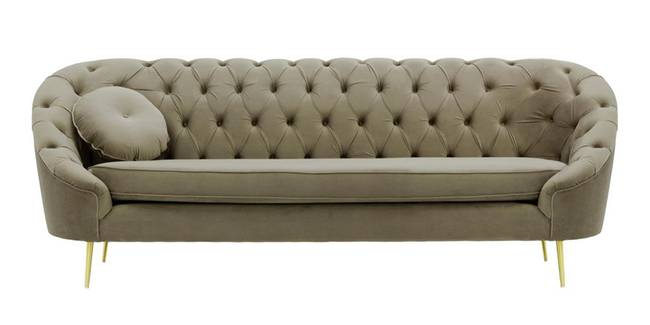 Claire Tufted Fabric Sofa (Brown Velvet) (Brown, 1-seater Custom Set - Sofas, None Standard Set - Sofas, Fabric Sofa Material, Regular Sofa Size, Regular Sofa Type)