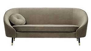 Kylan Fabric Sofa (Brown Velvet)