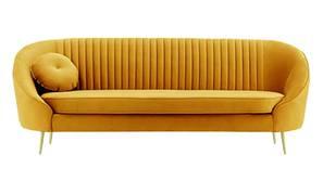 Mardella Fabric Sofa (Mustard Velvet)