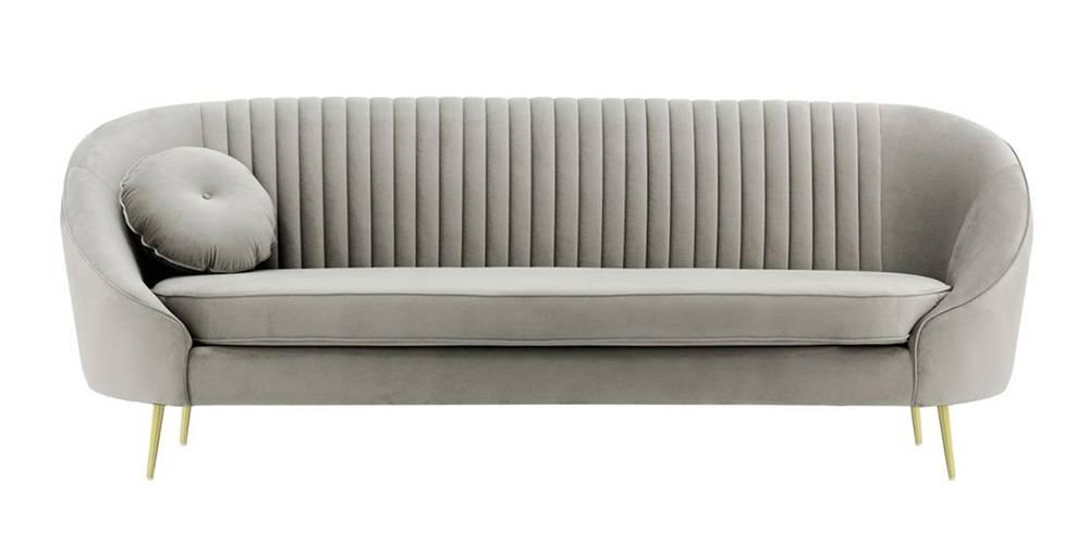 Mardella Fabric Sofa (Sliver Velvet) by Urban Ladder - -