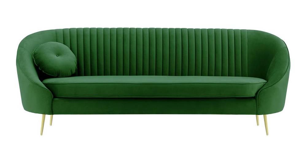 Mardella Fabric Sofa (Dark Green Velvet) by Urban Ladder - -