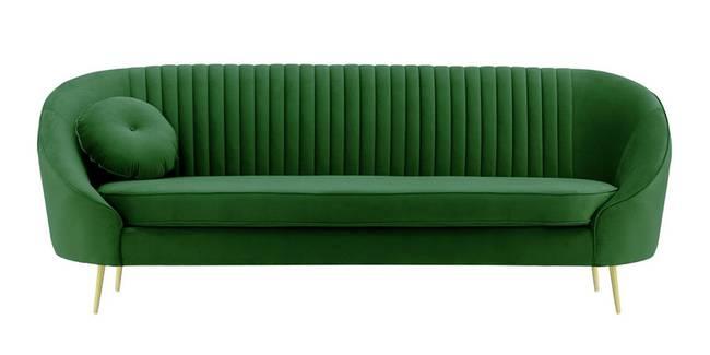 Mardella Fabric Sofa (Dark Green Velvet) (1-seater Custom Set - Sofas, None Standard Set - Sofas, Fabric Sofa Material, Regular Sofa Size, Regular Sofa Type, Dark Green)