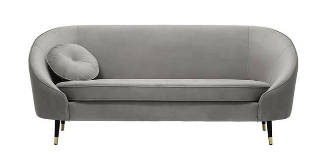 Kylan Fabric Sofa (Sliver Velvet) (1-seater Custom Set - Sofas, None Standard Set - Sofas, Silver, Fabric Sofa Material, Regular Sofa Size, Regular Sofa Type)