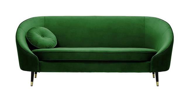 Kylan Fabric Sofa (Dark Green Velvet) (1-seater Custom Set - Sofas, None Standard Set - Sofas, Fabric Sofa Material, Regular Sofa Size, Regular Sofa Type, Dark Green)