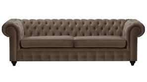 Mcduff Chesterfield Fabric Sofa (Brown Velvet)