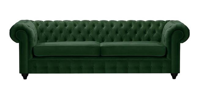 Mcduff Chesterfield Fabric Sofa (Dark Green Velvet) (1-seater Custom Set - Sofas, None Standard Set - Sofas, Fabric Sofa Material, Regular Sofa Size, Regular Sofa Type, Dark Green)
