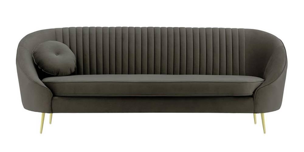 Mardella Fabric Sofa (Graphite Grey Velvet) by Urban Ladder - -