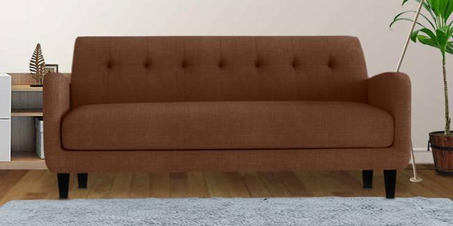 Boston Fabric Sofa (Brown) (Brown, 3-seater Custom Set - Sofas, None Standard Set - Sofas, Fabric Sofa Material, Regular Sofa Size, Regular Sofa Type)