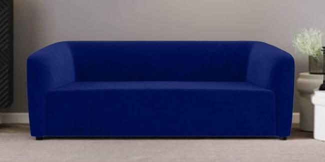 Berlin Fabric Sofa (Blue) (Blue, 1-seater Custom Set - Sofas, None Standard Set - Sofas, Fabric Sofa Material, Regular Sofa Size, Regular Sofa Type)