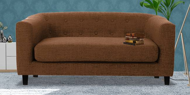 Casper Fabric Sofa (Brown) (Brown, 2-seater Custom Set - Sofas, None Standard Set - Sofas, Fabric Sofa Material, Regular Sofa Size, Regular Sofa Type)