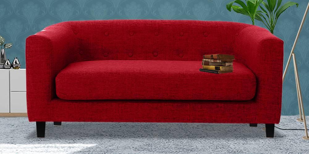 Casper Fabric Sofa (Maroon) by Urban Ladder - -