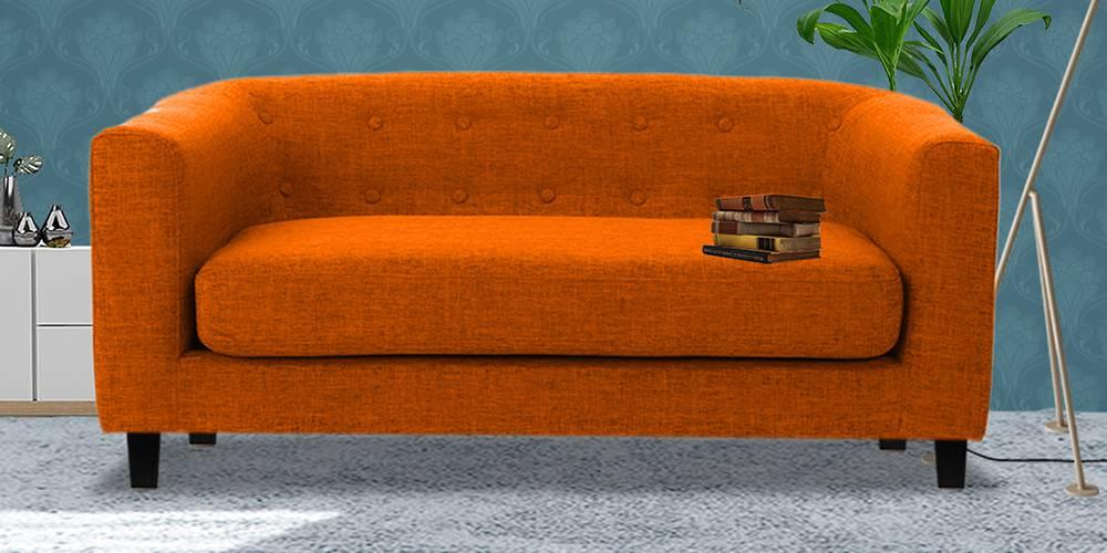 Casper Fabric Sofa (Orange) by Urban Ladder - -