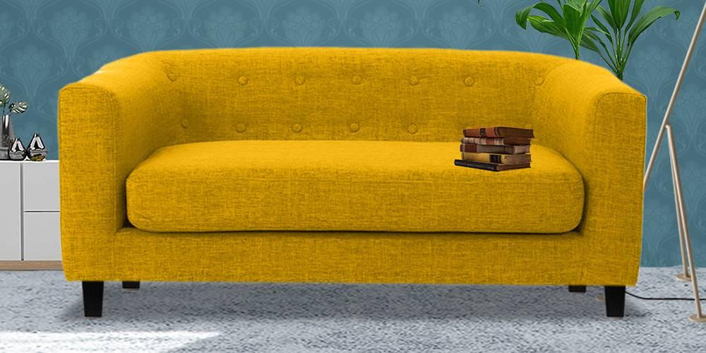 Casper Fabric Sofa (Yellow) by Urban Ladder - -