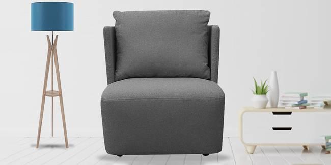 Charlotte Fabric Sofa (Grey) (Grey, 1-seater Custom Set - Sofas, None Standard Set - Sofas, Fabric Sofa Material, Regular Sofa Size, Regular Sofa Type)
