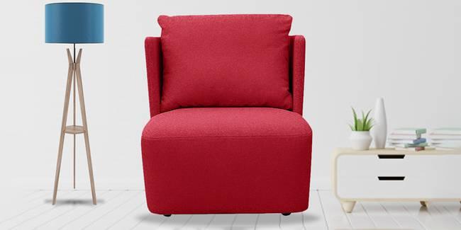 Charlotte Fabric Sofa (Maroon) (1-seater Custom Set - Sofas, None Standard Set - Sofas, Maroon, Fabric Sofa Material, Regular Sofa Size, Regular Sofa Type)