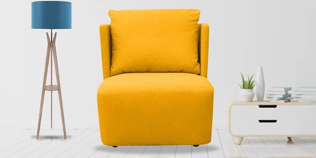 Charlotte Fabric Sofa (Yellow) (Yellow, 1-seater Custom Set - Sofas, None Standard Set - Sofas, Fabric Sofa Material, Regular Sofa Size, Regular Sofa Type)