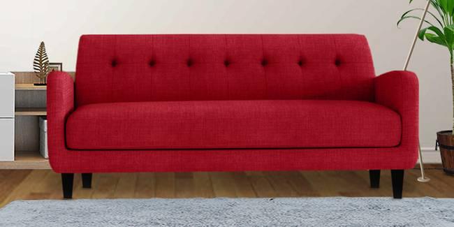 Boston Fabric Sofa (Maroon) (3-seater Custom Set - Sofas, None Standard Set - Sofas, Maroon, Fabric Sofa Material, Regular Sofa Size, Regular Sofa Type)
