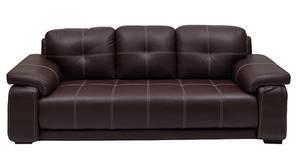 Marina Leatherette Sofa (Dark Brown)