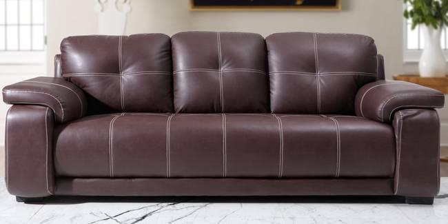 Marina Leatherette Sofa (Dark Brown) (3-seater Custom Set - Sofas, None Standard Set - Sofas, Dark Brown, Leatherette Sofa Material, Regular Sofa Size, Regular Sofa Type)