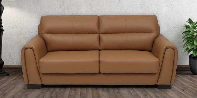 Webster Leatherette Sofa (Light Brown) (3-seater Custom Set - Sofas, None Standard Set - Sofas, Light Brown, Leatherette Sofa Material, Regular Sofa Size, Regular Sofa Type)