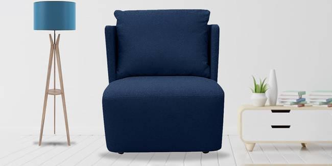 Charlotte Fabric Sofa (Royal Blue) (Blue, 1-seater Custom Set - Sofas, None Standard Set - Sofas, Fabric Sofa Material, Regular Sofa Size, Regular Sofa Type)