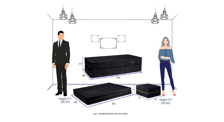 Dallas sofa cum bed black 6