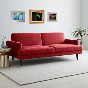 Zoya Sofa Cum Bed (Maroon) by Urban Ladder - Cross View Design 1 - 363246