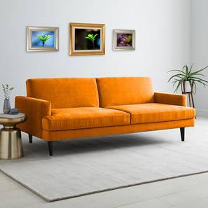 Zoya Sofa Cum Bed (Orange) by Urban Ladder - Cross View Design 1 - 363252
