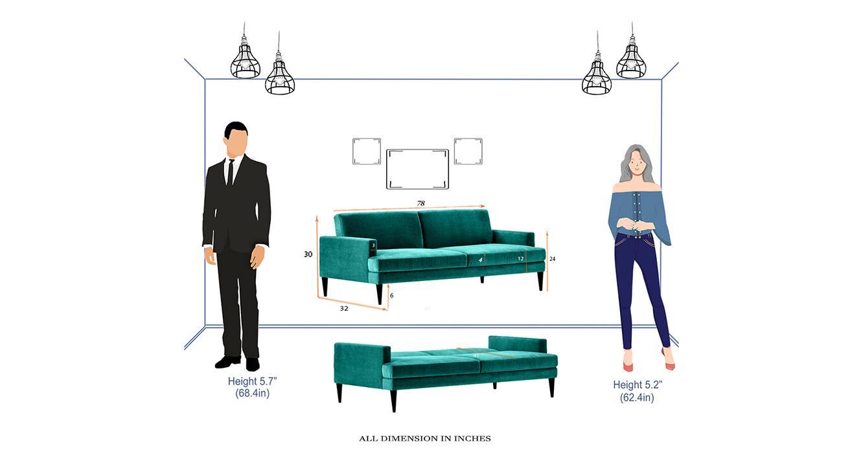 Zoya sofa cum bed green 6