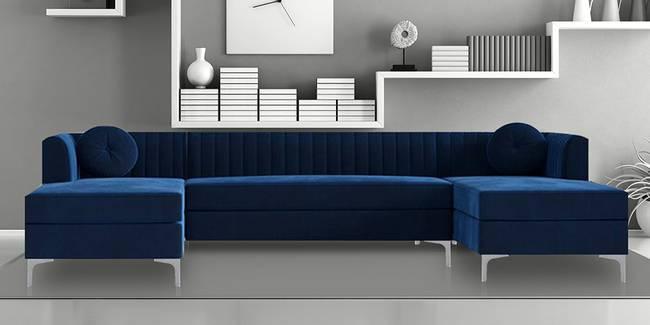 Amora U Shape Fabric Sofa (Navy Blue) (None Standard Set - Sofas, Navy Blue, Fabric Sofa Material, Regular Sofa Size, Soft Cushion Type, Sectional Sofa Type, U Shaped Sofa Custom Set - Sofas)