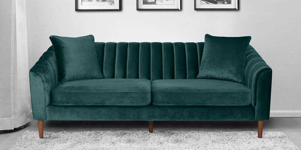 Chester Fabric Sofa(Green) by Urban Ladder - -
