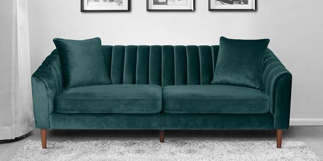 Chester Fabric Sofa(Green) (Green, 3-seater Custom Set - Sofas, None Standard Set - Sofas, Fabric Sofa Material, Regular Sofa Size, Regular Sofa Type)