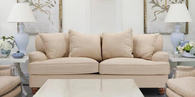 Homer Fabric Sofa (Beige) (2-seater Custom Set - Sofas, None Standard Set - Sofas, Beige, Fabric Sofa Material, Regular Sofa Size, Regular Sofa Type)
