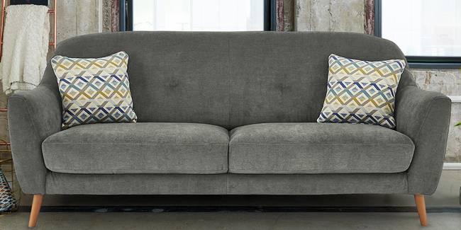 Jakarta Fabric Sofa (Grey) (Grey, 3-seater Custom Set - Sofas, None Standard Set - Sofas, Fabric Sofa Material, Regular Sofa Size, Regular Sofa Type)