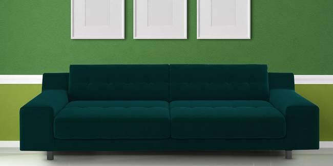 Lima Fabric Sofa(Green) (Green, 3-seater Custom Set - Sofas, None Standard Set - Sofas, Fabric Sofa Material, Regular Sofa Size, Regular Sofa Type)