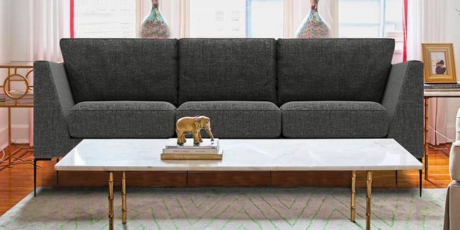 Monroe Fabric Sofa(grey) (Grey, 3-seater Custom Set - Sofas, None Standard Set - Sofas, Fabric Sofa Material, Regular Sofa Size, Regular Sofa Type)
