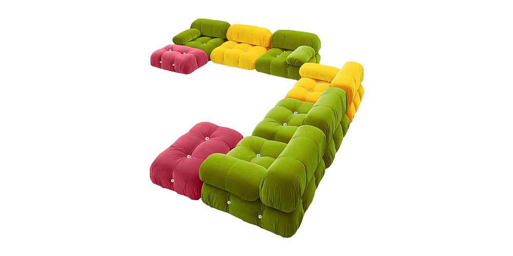 Madrid Sectional Fabric Sofa by Urban Ladder - -