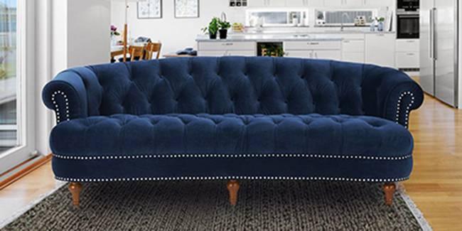 Domino Fabric Sofa(Navy Blue) (3-seater Custom Set - Sofas, None Standard Set - Sofas, Navy Blue, Fabric Sofa Material, Regular Sofa Size, Regular Sofa Type)